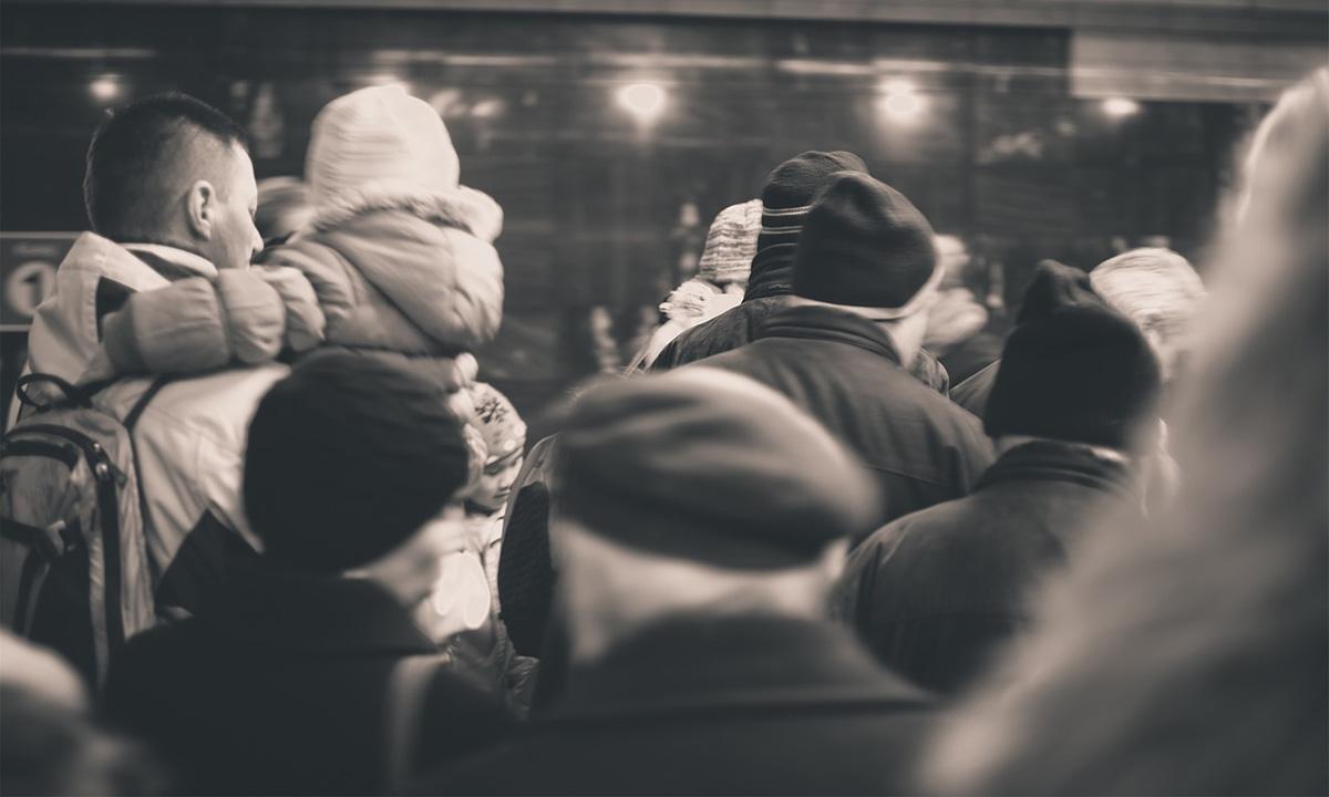 冬の地下鉄